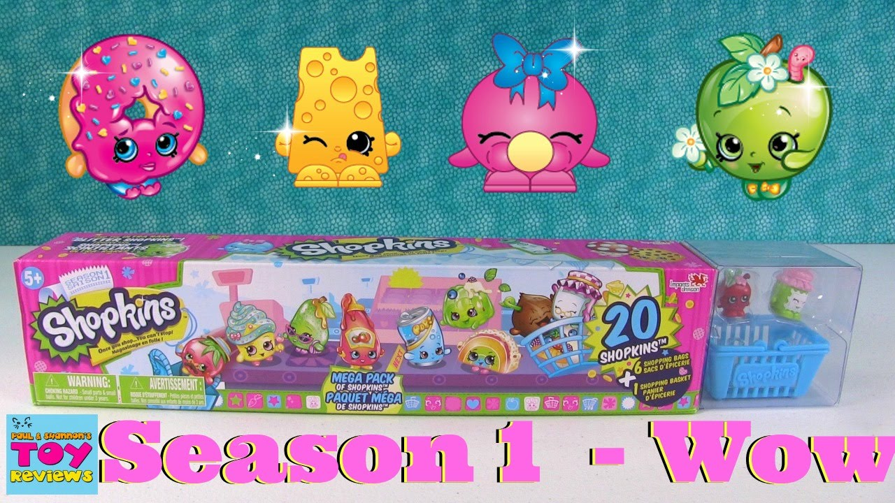 Shopkins Season 1 Mega 20 Pack Opening Unboxing Toy Review Pstoyreviews Youtube