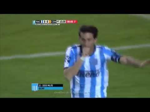 En la despedida de Cocca, Racing goleó a Crucero con dos goles de Diego Milito