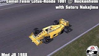 [F1C] Camel Team Lotus-Honda 100T @ Hockenheim with Satoru Nakajima (Mod JG 1988) [HD]