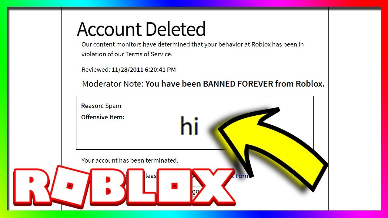 Roblox Ban Roblox Rich Roblox Accounts That Are Banned Forever Youtube