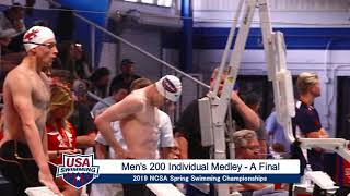 Men's 200y IM A Final | 2019 NCSA Spring Swimming Champs