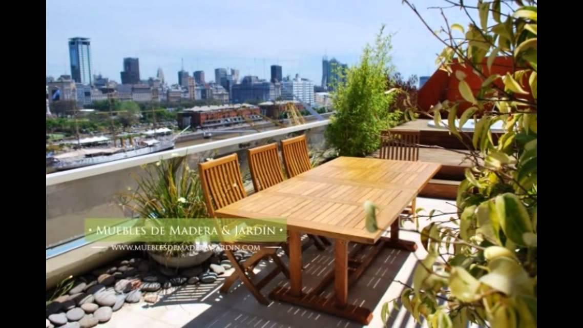 Sillas de teka muebles de madera y jard n com youtube for Muebles de teka para jardin