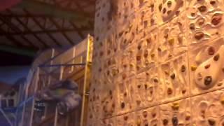 Lulu mall Cochin boys climbing on the wall