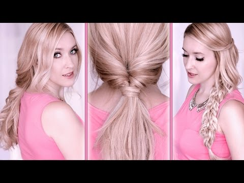 Everyday hair tutorial ❤ Last minute hairstyles for school ✿ Quick, easy