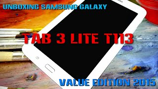 Samsung Galaxy Tab 3 Lite T113 Value Edition - Unboxing