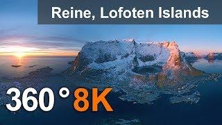 Reine, Lofoten archipelago, Norway, 8K 360° video