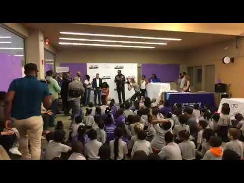Watch Master P give Foundation Prep students free eye glasses