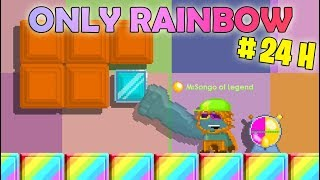 Growtopia | Using Only Rainbows for 24 Hours!! (RAINBOW EYES/ITEMS) OMG!!