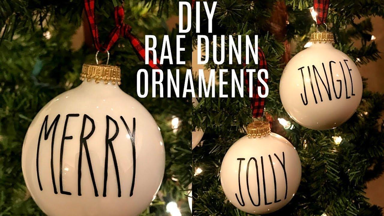 Diy Rae Dunn Inspired Ornaments Using Cricut Farmhouse Christmas Decor