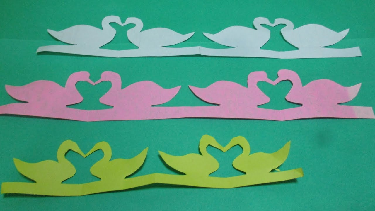 Room decoration with paper cuttings - How To Make Paper Cutting Designs Patterns Step By Step Make A Paper Cutting Duck