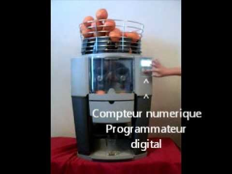 Presse agrume automatique professionnel zummo z14 youtube for Presse agrume professionnel