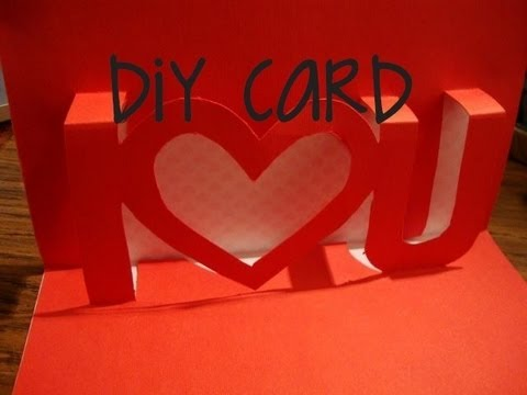 How To Make A I love U Pop Up Card Valentines Day Popup Card