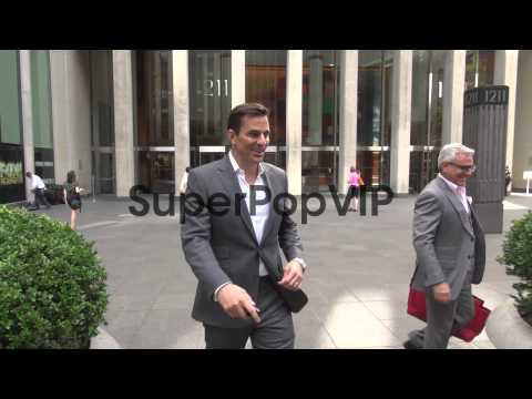 Bill Rancic leaves the News Corp building in New York, NY...