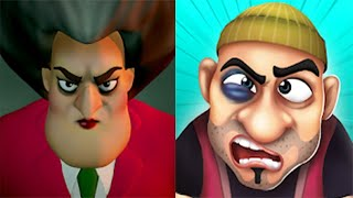 Scary Teacher 3D VS Scary Robber Home Clash - Z & K Games - NEW GAME RELEASED 2020