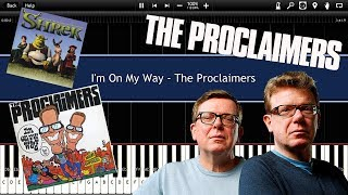 I'm On My Way - The Proclaimers (Synthesia) [Tutorial] [Intrumental Video] [Download]