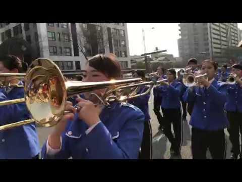 Omi High School Wind Band - 2018 Kyoto Sakura Parade Oike Blvd. 京都さくらパレード2018 近江高等学校吹奏楽部 御池通