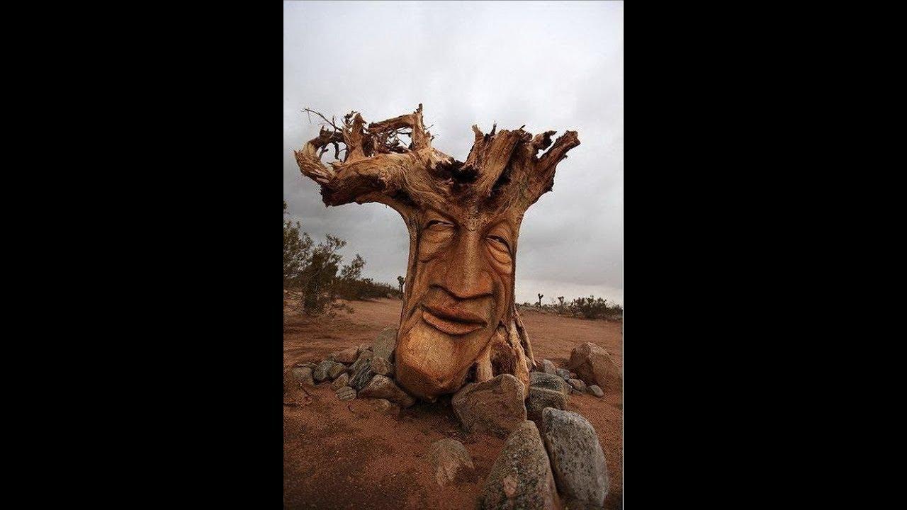 Портреты и скульптуры из дерева
