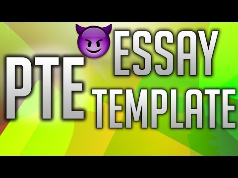 PTE Essay Template 🎫 | Writing | 2017 | PTE Test Practice |