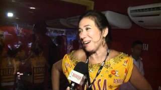 Lilia Cabral diz que vai sentir falta da Griselda CAMAROTE DEVASSA 2012
