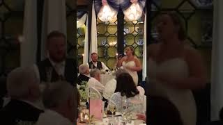 """Emotional Bride Sings """"Perfect"""" to Her New Husband on their Wedding Day!"""