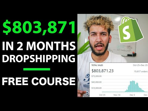 Free Dropshipping Course | $0 to $10,569 Per Day In 30 Days | Shopify Case Study 2020 For Beginners thumbnail