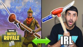 FORTNITE WEAPONS in REAL LIFE!!! NINJA PLUNJA CHALLENGE!! (DIY WEAPONS) *INSANELY DANGEROUS*
