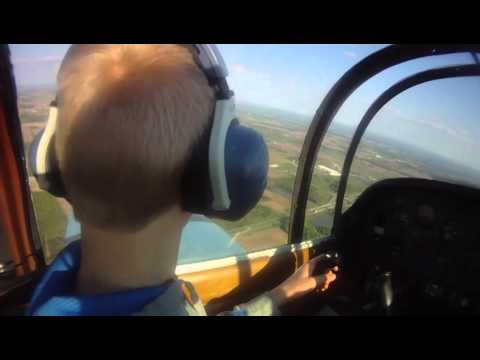 Flight Training my 14 year old son in the Grumman AA1A Airplane