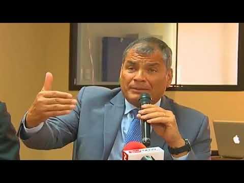Rueda de Prensa del Presidente Rafael Correa desde el Edificio La Merced Piso 6 (Guayaquil)