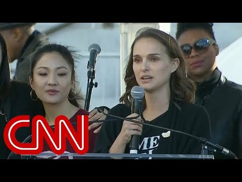 Natalie Portman speaks at Women's March