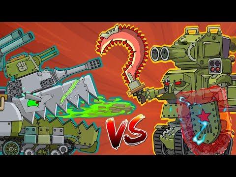 Кв-54 против Робо-Сталина - Мультики про танки