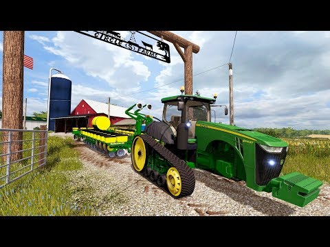 FARMING SIMULATOR 2017   BRAND NEW JOHN DEERE 8RT & JD PLANTED PURCHASE   IOWA EP #6