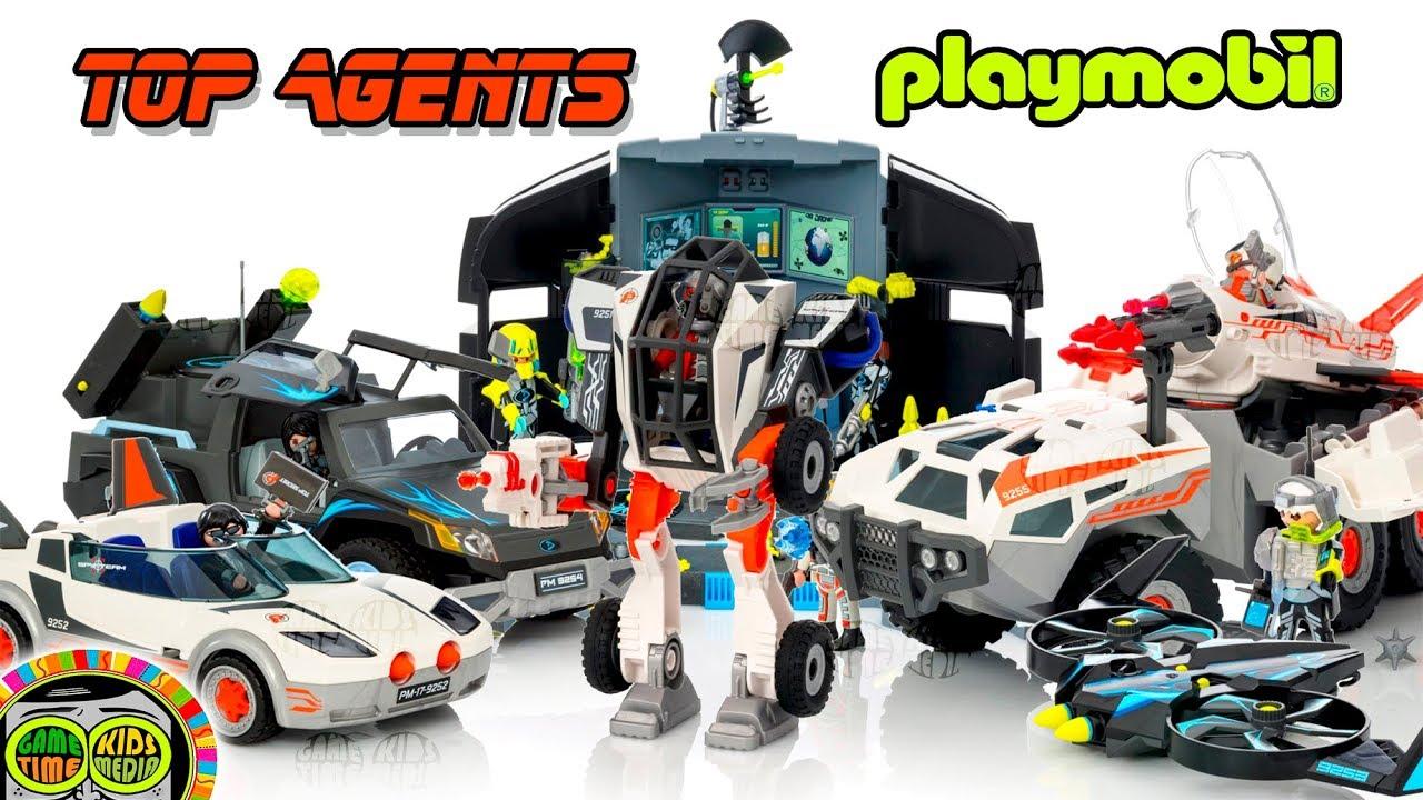 playmobil vehículos de emergencia de juguete top agents