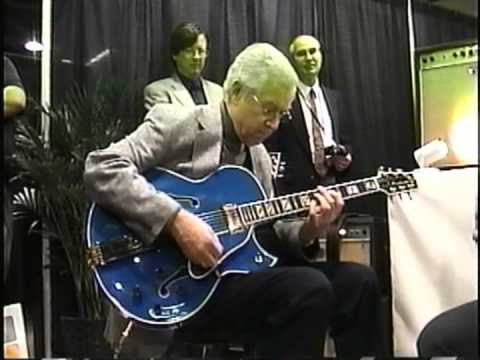 Kenny Burrell at NAMM 2004 with Rory Hoffman and Henry Johnson.