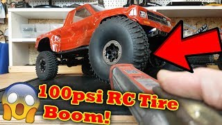 RC Car Inflatable Tire VS 100 psi .......