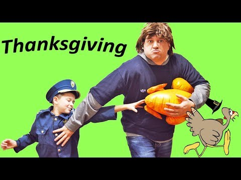 Download Youtube: Who Stole Thanksgiving?  Silly funny kids video with Sketchy Mechanic and special tag challenge