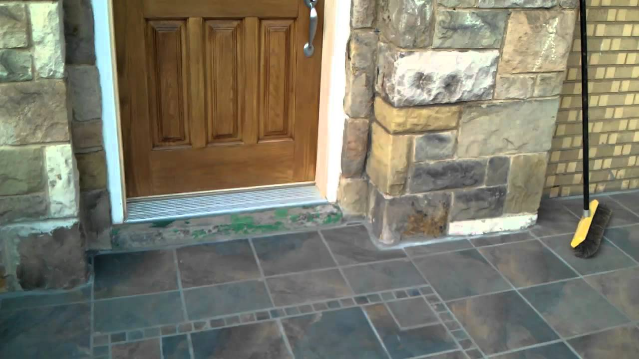 Tiled Front Porch You