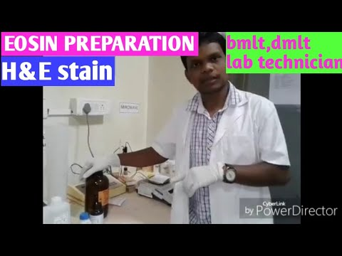 preparation of eosin reagent (hindi)