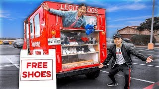I Gave Away Free Shoes From An Ice Cream Truck!