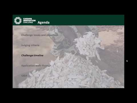 The Rockefeller Foundation Cassava Innovation Challenge Webinar
