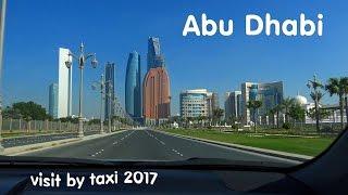 Abu Dhabi Corniche Road by cab 4K