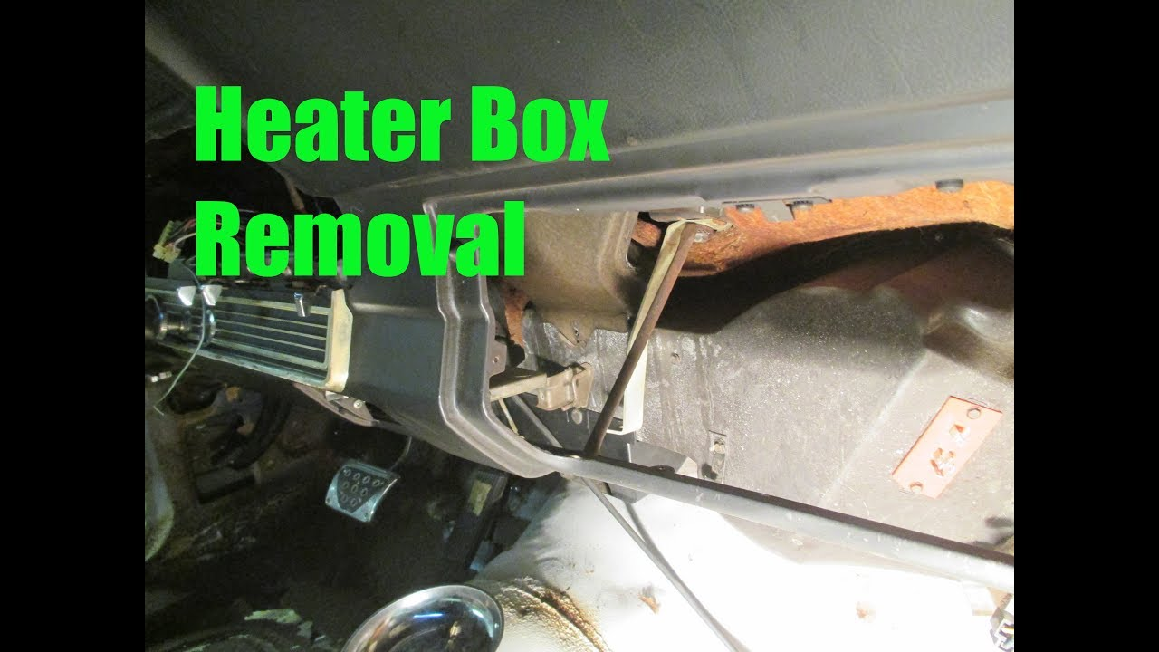 Heater Box Removal - 006