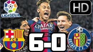 Barcelona vs Getafe 2015| Barcelona 6-0 Getafe, RESUMEN Y GOLES HD| LIGA BBVA| 29-04-2015