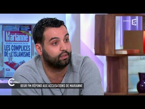 Yassine Bellatar de Beur FM répond aux accusations de Marianne - C à vous - 26/05/2015
