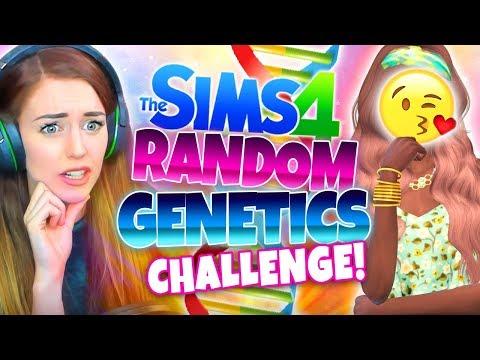 🤩 RANDOM BEAUTY!? 🤩 - Sims 4 Random Genetics Challenge 💡 - (CAS!)