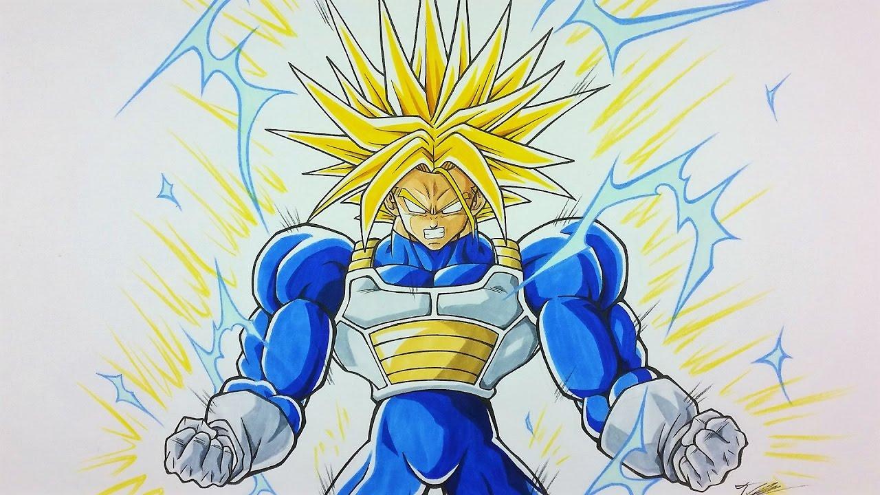 Drawing future trunks ultra super saiyan youtube - Trunks super sayen ...