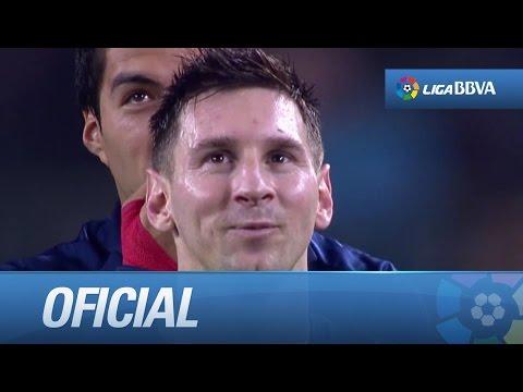 Homenaje a Messi en el videomarcador del Camp Nou