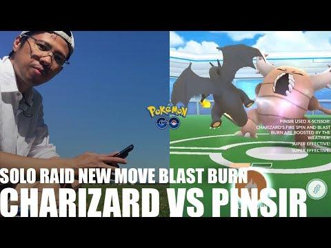 Pinsir solo'd with 4 charizard lvl 32-34 blast burn boost no dodging 33 secs left - pokemon go