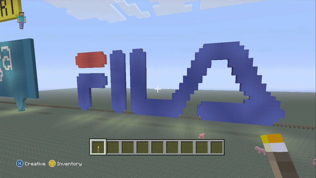 Fila Logo Pixel Art Minecraft Xbox 360 Edition Hd Youtube