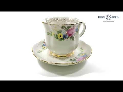 Чайная пара Улыбка Высокохудожественная роспись Авторская работа-video