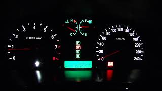 Пересвет панели приборов и блока климат-контроля Hyundai Sonata :)